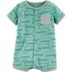Carters Baby Boys Hot Dog Snap-Up Romper