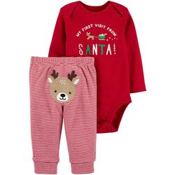 Carters Baby Boys First Visit From Santa Bodysuit Set