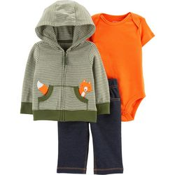 Carters Baby Boys 3-pc. Striped Fox Jacket Layette