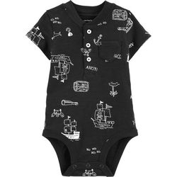 Carters Baby Boys Pirate Henley Bodysuit