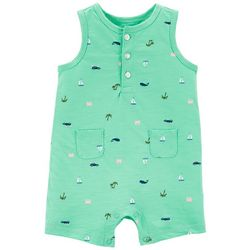 Carters Baby Boys Beach Tank Romper
