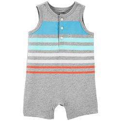 Carters Baby Boys Striped Tank Romper