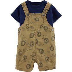 Carters Baby Boys Lion Shortalls Set