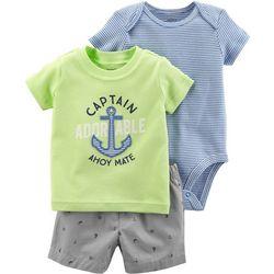 Carters Baby Boys 3-pc. Captain Adorable Layette Set