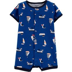Carters Baby Boys Short Sleeve Sailboat Romper