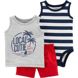 Carters Baby Boys 3-pc. Local Cutie On Duty Layette Set