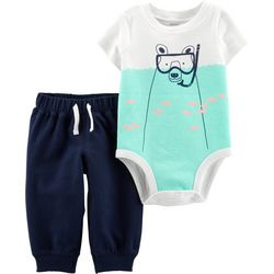 Carters Baby Boys Polar Bear Bodysuit Set