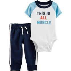 Carters Baby Boys This Is Muscle Bodysuit Set