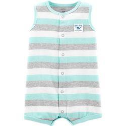 Carters Baby Boys Stripe Whale Romper