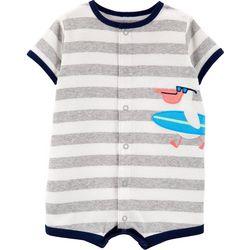 Carters Baby Boys Stripe Pelican Romper