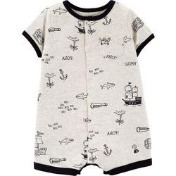 Carters Baby Boys Pirate Crab Romper