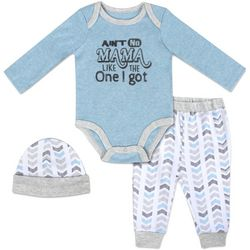 Baby Essentials Baby Boys 3-pc. Ain't No Mama Layette Set