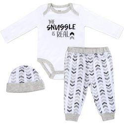 Baby Essentials Baby Boys 3-pc. Snuggle Is Real Layette Set