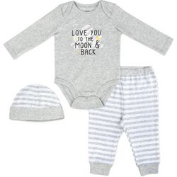 Baby Essentials Baby Boys 3-pc. The Moon & Back Layette Set