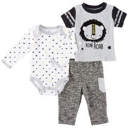 Baby Essentials Baby Boys 3-pc. Lion Roar Layette Set
