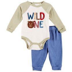 Weeplay Baby Boys Wild One Bodysuit Set