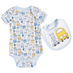 Weeplay Baby Boys Beep Beep Bodysuit & Bib Set