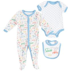 Weeplay Baby Boys 3-pc. Let's Go Vehicle Layette Set