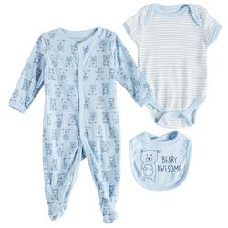 Weeplay Baby Boys 3-pc. Beary Awesome Layette Set
