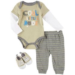 Weeplay Baby Boys 3-pc. Cool Little Dude Layette Sneaker Set