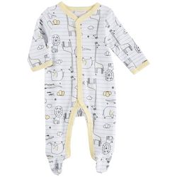 Sunshine Baby Baby Boys Safari Animals Long Sleeve Coverall