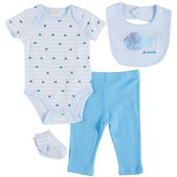 Sunshine Baby Baby Boys 5-pc. Hi There Fish Bodysuit Set
