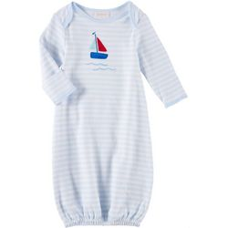 Sunshine Baby Baby Boys Sailboat Striped Gown