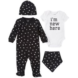 Petit Lem Baby Boys 4-pc. I'm New Here Layette Set