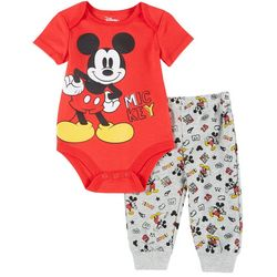Disney Baby Boys Short Sleeve Mickey Mouse Bodysuit