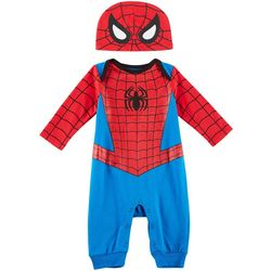 Marvel Spider-Man Baby Boys Jumpsuit & Hat Set