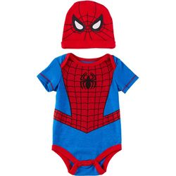 Disney Baby Boys 2-pc. Short Sleeve Spider Man Bodysuit Set