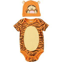 Disney Baby Boys 2-pc. Short Sleeve Tiger Bodysuit Set