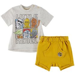 Star Wars Baby Boys 2-pc. Little Rebel Shorts Set