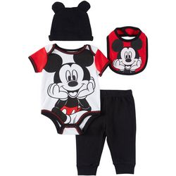 Disney Mickey Mouse Baby Boys 4-pc. Bodysuit Set