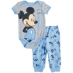 Disney Mickey Mouse Baby Boys Heathered 2-pc. Set