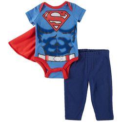Marvel Superman Baby Boys Cape & Pants Set