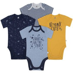 Just Born Baby Boys 4-pk. Shoot For The Stars Bodysuits