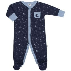 Just Born Baby Boys Star & Moon Print Sleep & Play
