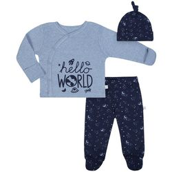 Just Born Baby Boys 3-pc. Hello World Layette Set
