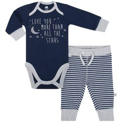 Just Born Baby Boys Love You More Bodysuit Set
