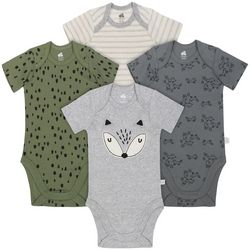 Just Born Baby Boys 4-pk. Fox Forest Bodysuits