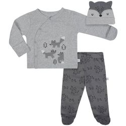 Just Born Baby Boys 3-pc. Fox Forest Layette Set