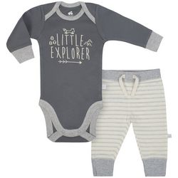 Just Born Baby Boys Little Explorer Bodysuit Set