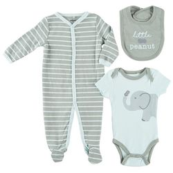 Quiltex Baby Boys 3-pc. Little Peanut Layette Set