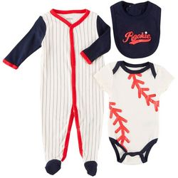 Quiltex Baby Boys 3-pc. Rookie Baseball Layette Set