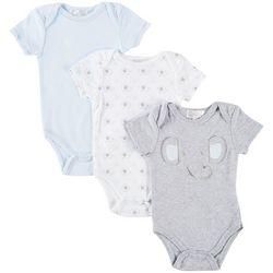 Quiltex Baby Boys 3-pk. Elephant Bodysuits