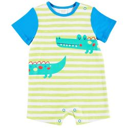 Sunshine Baby Baby Boys Stripe Alligator Romper