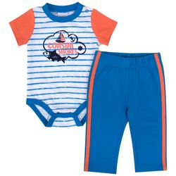 Sunshine Baby Baby Boys Coastal Shores Striped Pants Set