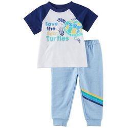Sunshine Baby Baby Boys Save The Turtles Pants Set