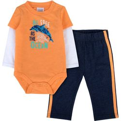 Sunshine Baby Baby Boys Free As The Ocean Dolphin Pants Set
